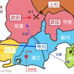 地図で見る井伊直虎をめぐる戦国時代勢力図 川中島から桶狭間まで